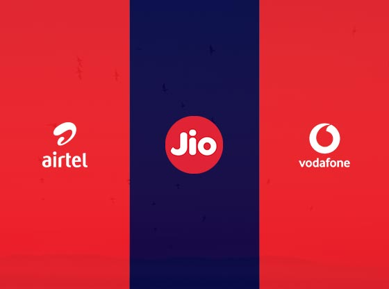 Jio vs Vodafone vs Airtel Comparison