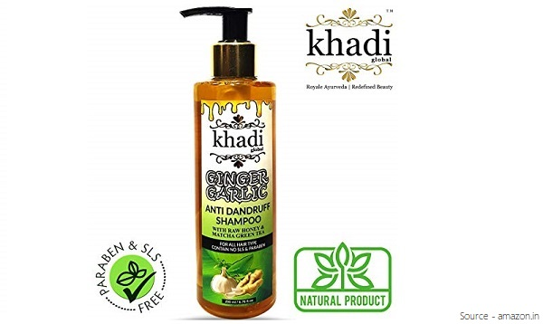 Khadi Global Ginger Garlic Anti Dandruff Shampoo