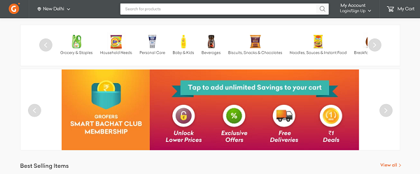 grofers online grocery store