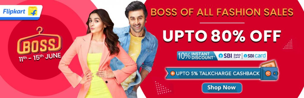 Flipkart BOSS Sale 2019