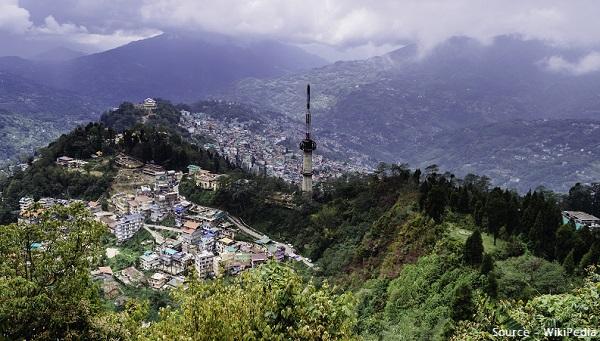Gangtok beautiful view from mountain