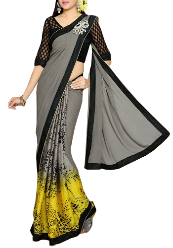 Style a Saree -Butterfly look