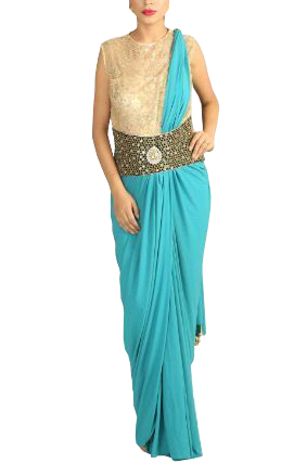 Style a Saree with Belt