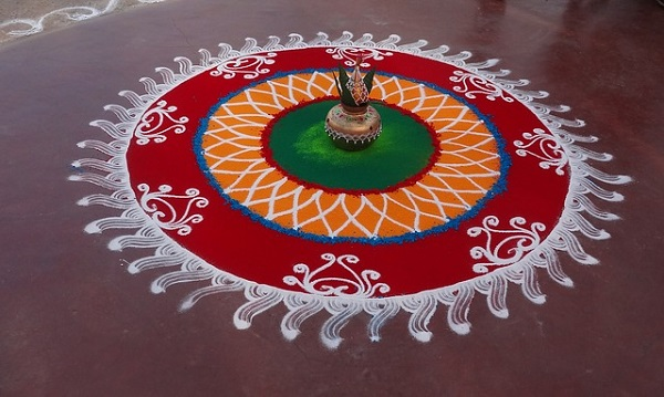 Natural Colors for Rangoli
