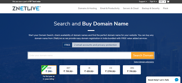 Znetlive Domain Registration