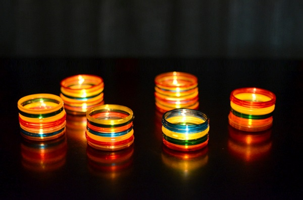 bangle decoration for Diwali