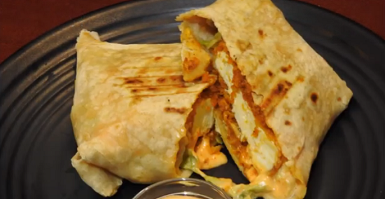 Saucy Paneer Wrap Recipe