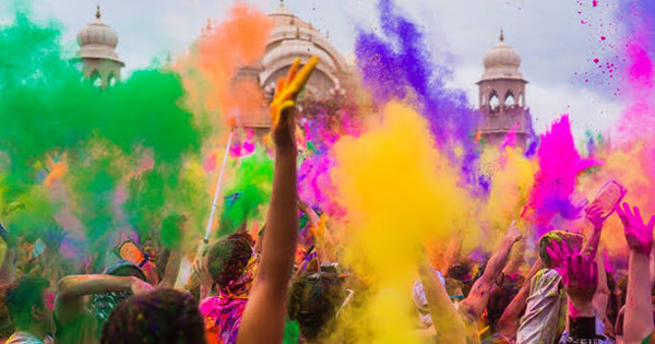 Holi Celebration in Dwarkadheesh Temple in Mathura