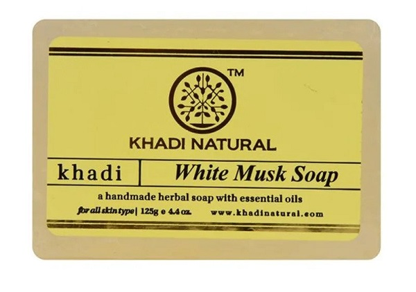 Khadi Natural Ayurvedic White Musk Soap for Men