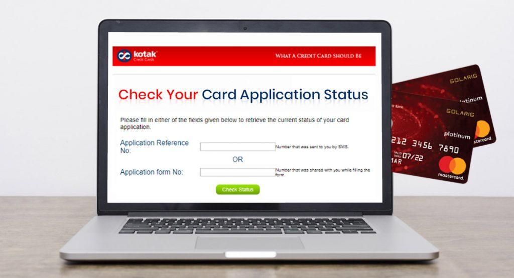 kotak mahindra bank credit card online application status