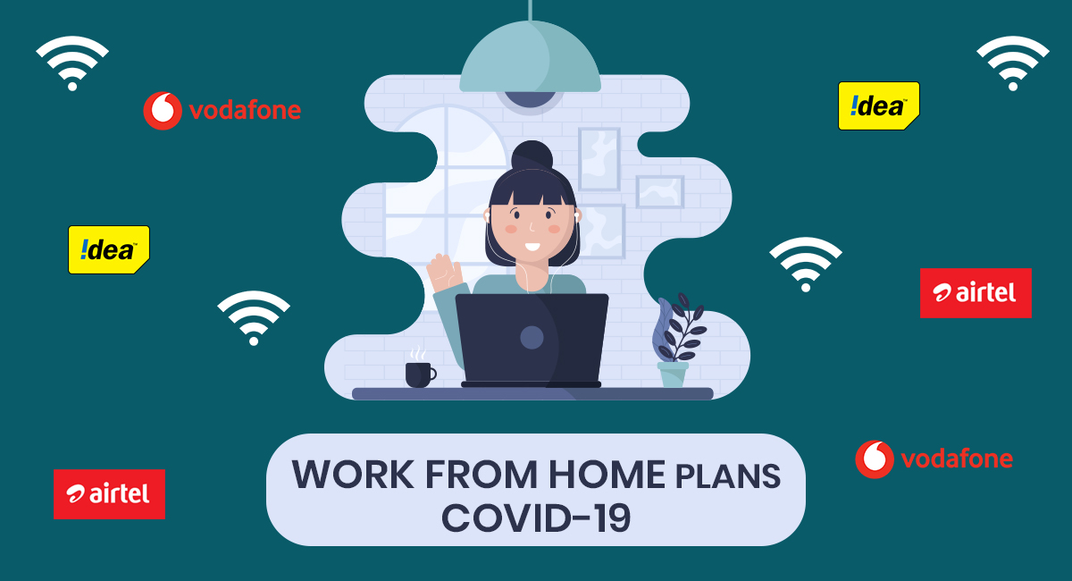 Jio, Voda, Airtel Work from Home Plans during COVID-19