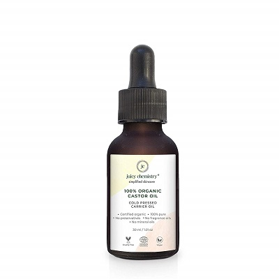 Juicy Chemistry 100% Organic Castor Cold Pressed Carrier Oil