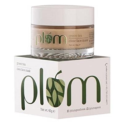 Plum Green Tea Clear Face Mask