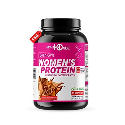 HealthOxide Women's Protein with 100% Natural Sweetener Stevia