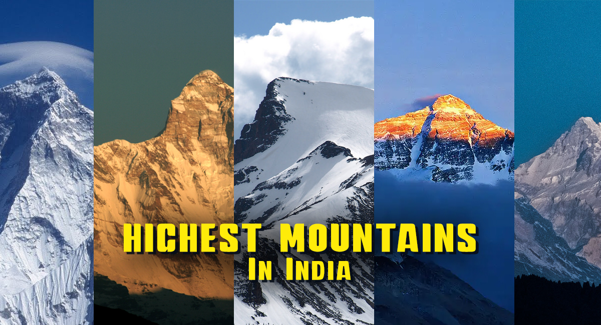 highest mountain peaks in India