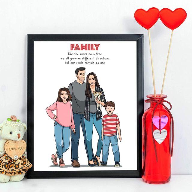 Customized Family Portrait