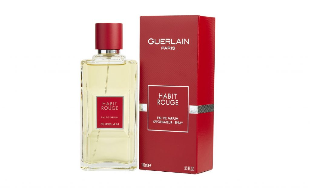 Guerlain Habit Rouge Eau de Parfum Spray for Men, 3.3 Ounce