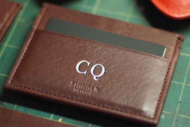 Leather Wallet with Monogram