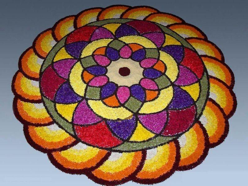 Spiral Kolam Design