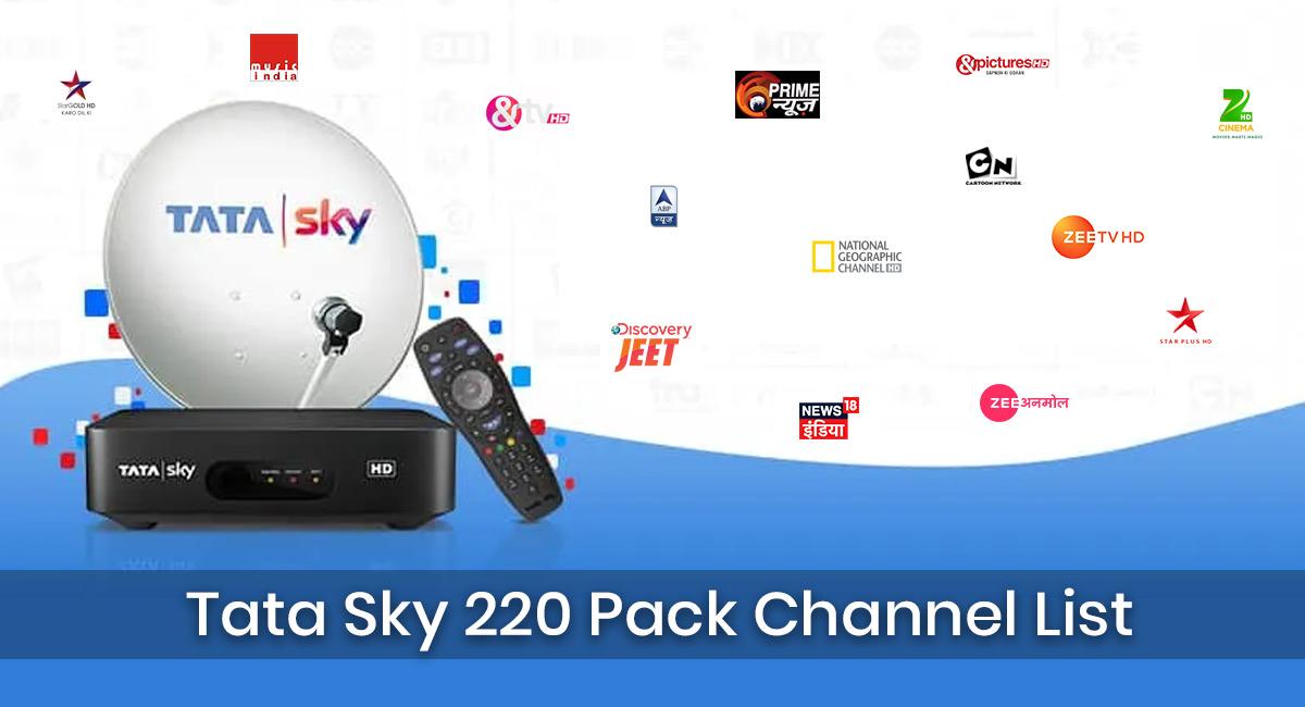 tata sky 220 pack channel list