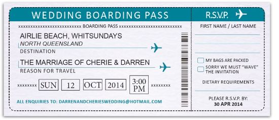 Personalized Boarding Passes