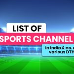 List of Sports Channels in India & No. on Leading DTH