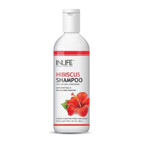 INLIFE Natural Hibiscus Anti-hair Fall Shampoo 200ml Soap Paraben-Free