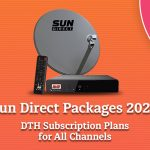 Sun Direct Packages 2021-DTH Recharge Plans with Channel Prices