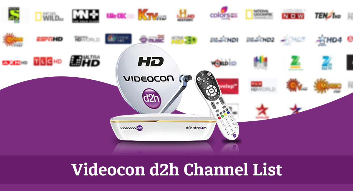 videocon D2H channel list