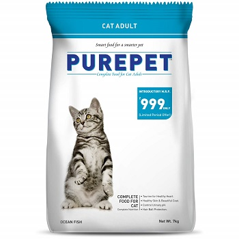 Purepet Adult(+1 year) Dry Cat Food, Sea Food