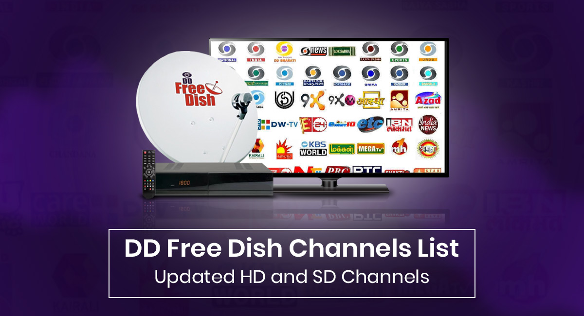 DD Free Dish Channels List