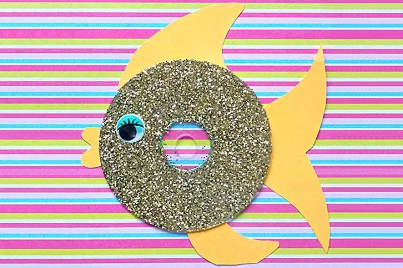 Glittery CD Fish Idea