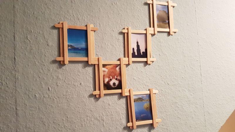 Popsicle Photo Frame Idea