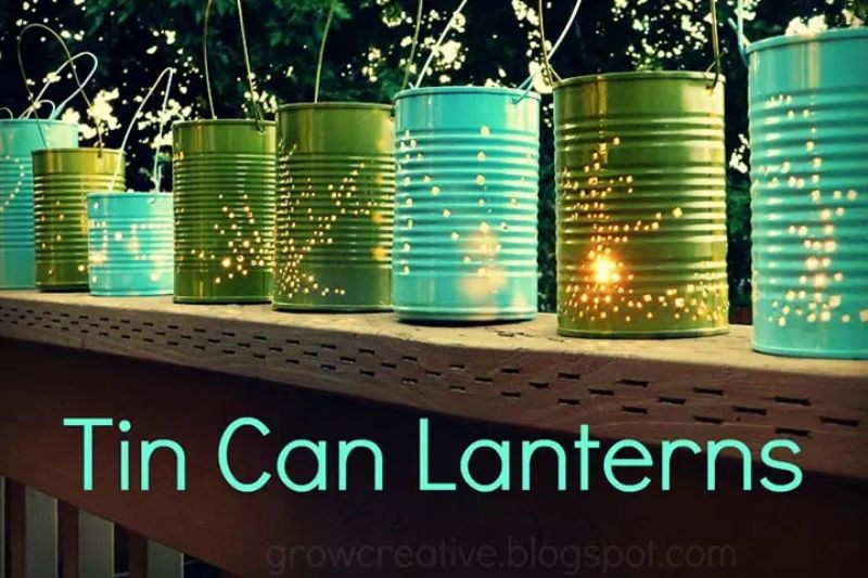 Tin Can Lanterns Idea