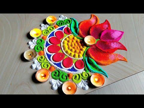 Lotus Design for Rangoli