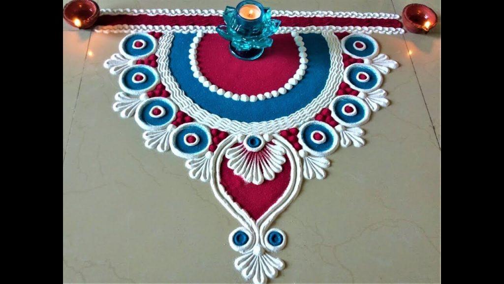 Half Style Rangoli
