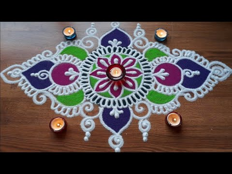 Elongated Rangoli Design