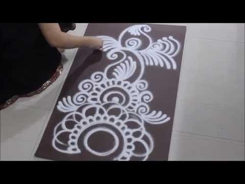Long Rangoli Design