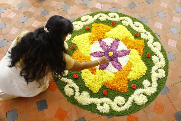 Leaf and Flower Rangoli