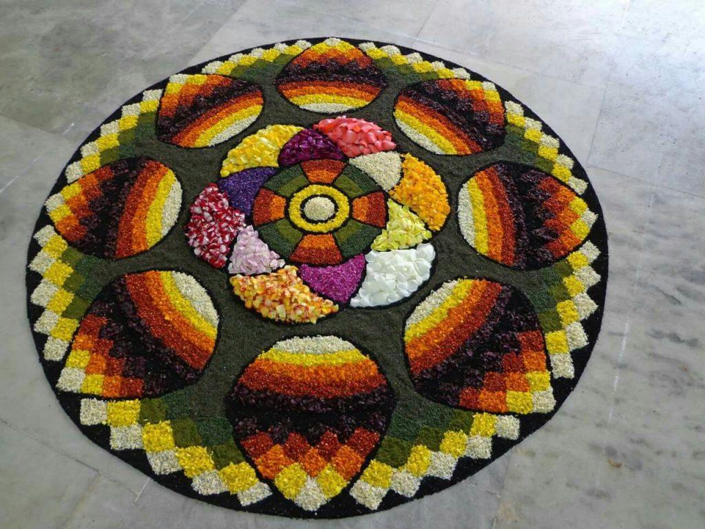 Gradient Rangoli Design