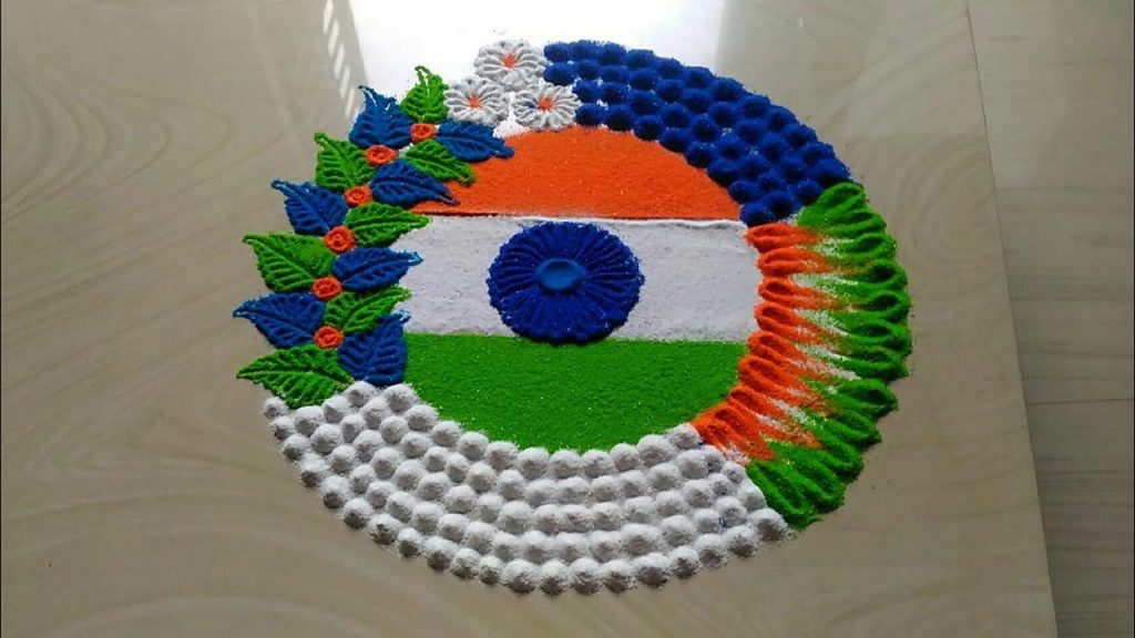 Tricolour Rangoli Designs