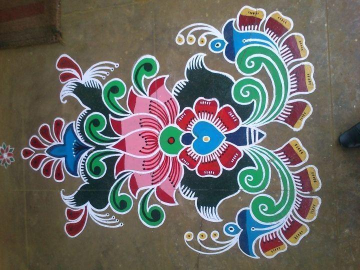Large Area Rangoli Design