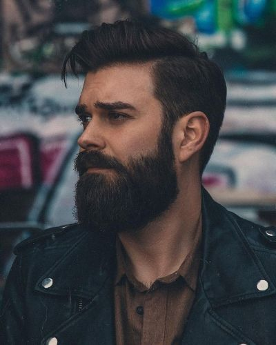 Classic Beard with Moustache Style