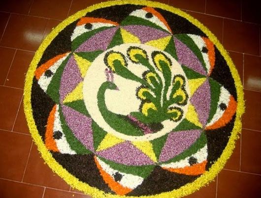 Flower Rangoli Design