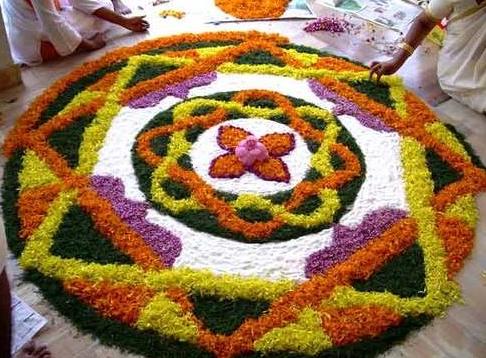 Loose and Whole Flower Rangoli