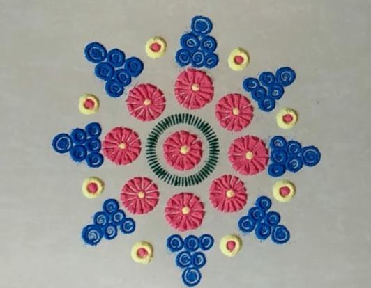 Quick Rangoli Design