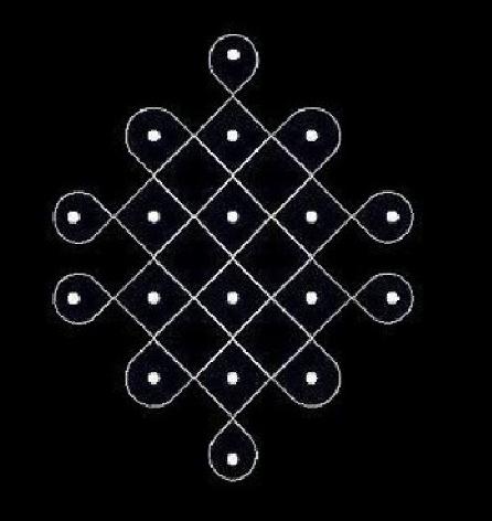 Rangoli Design with Dots