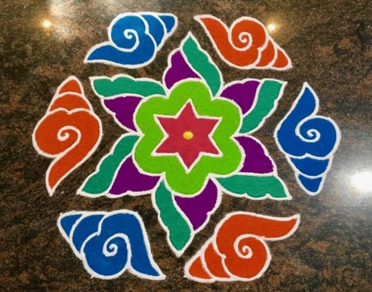 Shankh Rangoli Design
