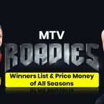 MTV Roadies Winner List & Price Money of All Seasons