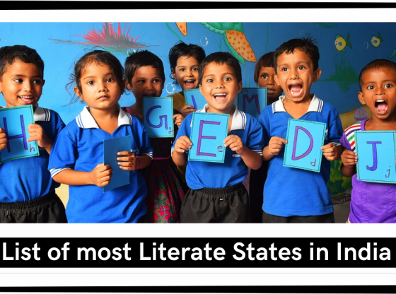 most literate states in India